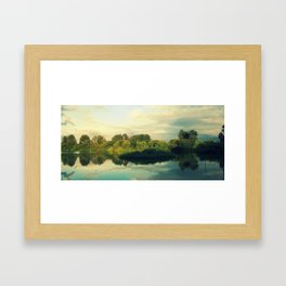 A Pond in Autumn  Framed Art Print