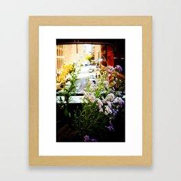 City Wild Flowers Framed Art Print