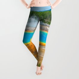 Yellowstone Grand Prismatic Spring Print Leggings
