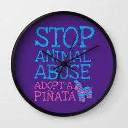 Stop Animal Abuse Adopt A Piñata Wall Clock