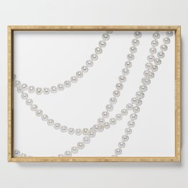 White Pearls Serving Tray