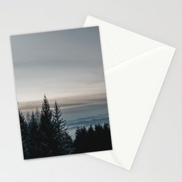 Blue Hour in Winter Forest | Nature & Landscape Photogrpahy Stationery Cards