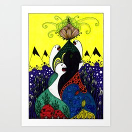 Reaching For Just A Taste... Art Print