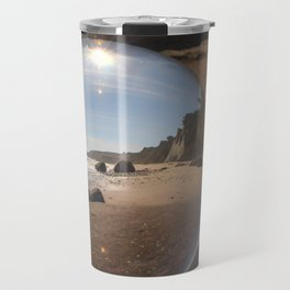 Beach Ball refraction photography with crystal ball Travel Mug