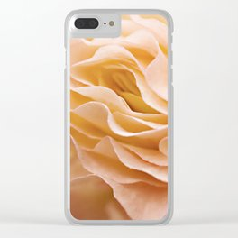 Frosting Apricot Begonia Clear iPhone Case