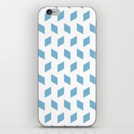 rhombus bomb in dusk blue iPhone Skin
