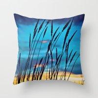 western Throw Pillows featuring Western Sky by Melanie Ann