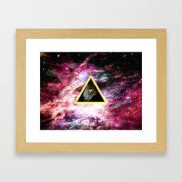 Illuminati Universe Cat  Framed Art Print