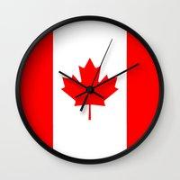 canada Wall Clocks featuring Canada by McGrathDesigns