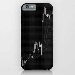 Forex candlestick chart iPhone Case