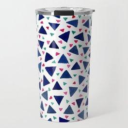 Confetti Triangles Travel Mug