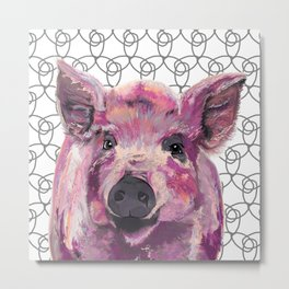 Precious Pig Metal Print