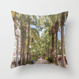 Alicante market Throw Pillow