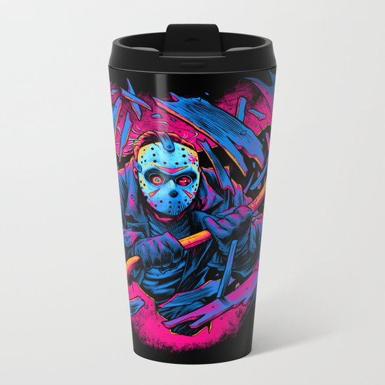 FRIDAY THE 13TH: FORCEFUL ENTRY Metal Travel Mug