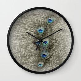 Peacock Summer Wall Clock