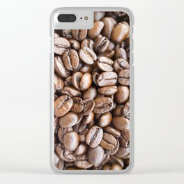 Coffee beans background Clear iPhone Case