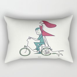 Faster than the wind Rectangular Pillow