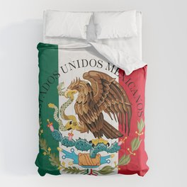 Mexican flag augmented scale with Coat of Arms Comforters