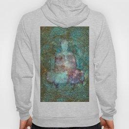 Watercolor Mandala Buddha in Galaxy Hoody