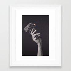 No, but I'm afraid of you Framed Art Print