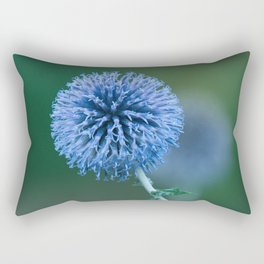 Blue Globe Thistle Rectangular Pillow
