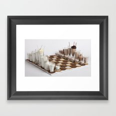 Cookies and Milk Chess Set Framed Art Print
