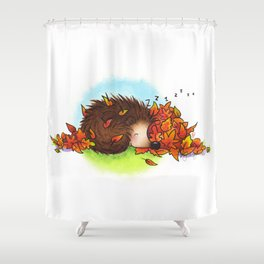 Fall Hedgie 5 Shower Curtain