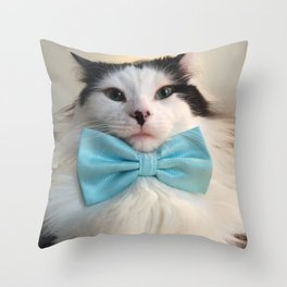 The Oreo Cat: Simply Summer Throw Pillow