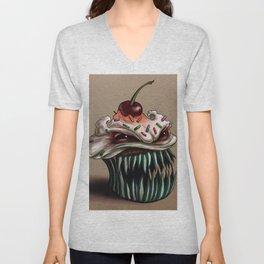 Zhola the Demonic Cupcake Unisex V-Neck