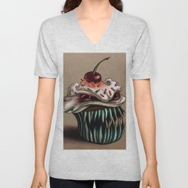 Zhola the Demonic Cupcake Unisex V-Neck