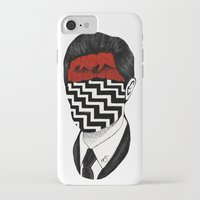 twin peaks iPhone & iPod Cases featuring Twin Peaks by Black Neon