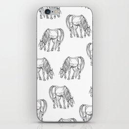 Little Line Horse iPhone Skin