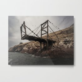 Abandoned Pier on Ballestas Islands, Peru Metal Print