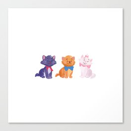 Once upon a time Aristocats Canvas Print