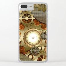Steampunk Clear iPhone Case