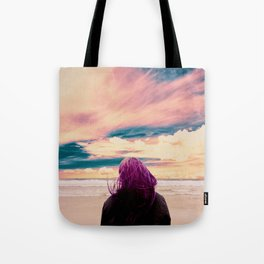 Watching the Waves Tote Bag