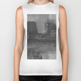 Paint Texture (Black and White) Biker Tank
