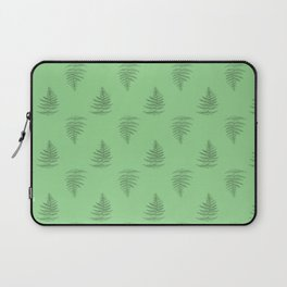 Scientific Green Fern Nature Plant Drawing Laptop Sleeve