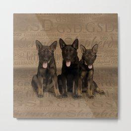 German Shepherd Puppies Metal Print