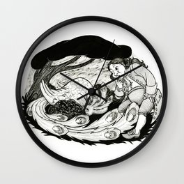 Bird in the Bush Wall Clock