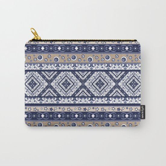 Abstract ornament. Rustic . Stripe. Carry-All Pouch
