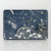 cycling iPad Cases featuring Snow Cycling by Art de L'aube