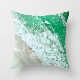 Emerald Sea Throw Pillow
