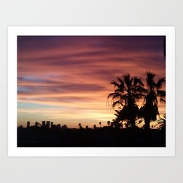 Pink & Orange Hollywood  Art Print