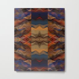 Under the Blanket of Sunset Native American Inspired Pattern Metal Print