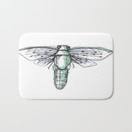 Three Line Cicada Bath Mat