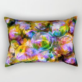 colorful bubbles Rectangular Pillow
