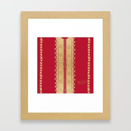 Traditional Dress - Red Framed Art Print