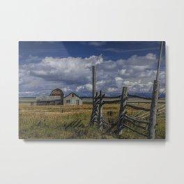Color Photograph of the John Moulton Farm on Mormon Row Metal Print