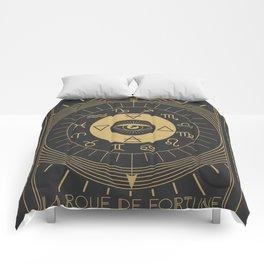 La Roue de Fortune or Wheel of Fortune Tarot Comforters